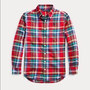Plaid cotton twill shirt 👚